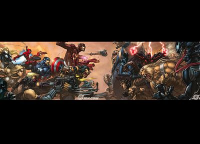 Venom, Thor, Spider-Man, Captain America, Wolverine, Marvel Comics - desktop wallpaper