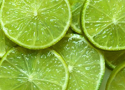 green, fruits, food, limes - desktop wallpaper