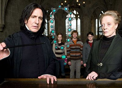 Harry Potter, screenshots, Harry Potter and the Half Blood Prince, wand, necklaces, Alan Rickman, Hermione Granger, Ron Weasley, Severus Snape, Minerva McGonagall, Maggie Smith - related desktop wallpaper