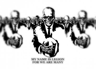 Anonymous, army, legion, skeletons - random desktop wallpaper