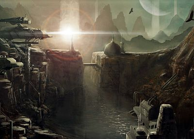 landscapes, futuristic, fantasy art, artwork - related desktop wallpaper