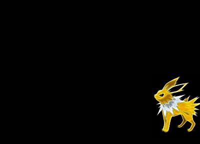 Pokemon, Jolteon, black background - random desktop wallpaper