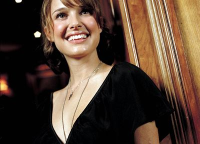 women, actress, Natalie Portman, smiling - random desktop wallpaper