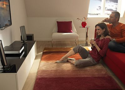 TV, couch, home, interior, Philips - desktop wallpaper