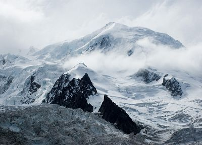mountains, snow, glacier - random desktop wallpaper