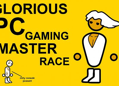 video games, yellow, PC, console, master, Zero Punctuation, yahtzee, dirty, PC gaming master race - related desktop wallpaper