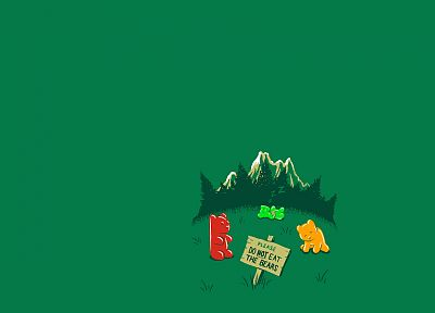 minimalistic, funny, Gummy Bears - related desktop wallpaper