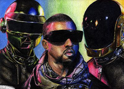 Daft Punk, Kanye West - related desktop wallpaper