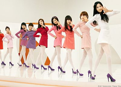 women, Girls Generation SNSD, celebrity, high heels, Seohyun, singers, Jessica Jung, Kim Taeyeon, Kwon Yuri, Im YoonA, Kim Hyoyeon, Choi Sooyoung, Lee Soon Kyu, Tiffany Hwang - related desktop wallpaper