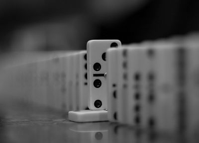 monochrome, board games, dominos game - desktop wallpaper