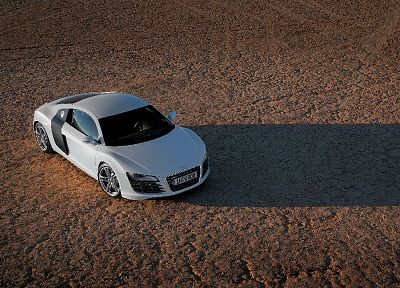 cars, deserts, Audi, silver, Audi R8, German cars - random desktop wallpaper