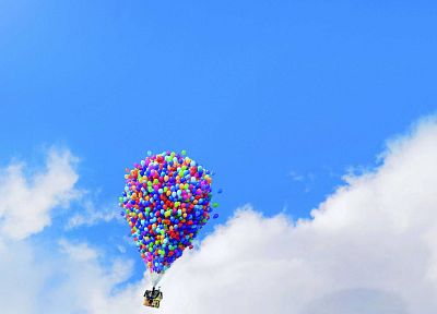 Pixar, Up (movie), balloons, movie posters - related desktop wallpaper