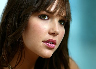 women, models, Arielle Kebbel, faces, bangs - random desktop wallpaper