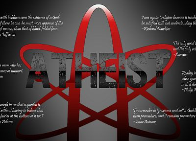 text, quotes, atheism - random desktop wallpaper