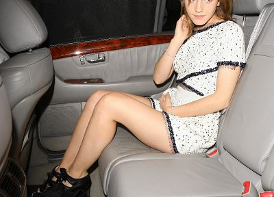 women, Emma Watson, car interiors - related desktop wallpaper