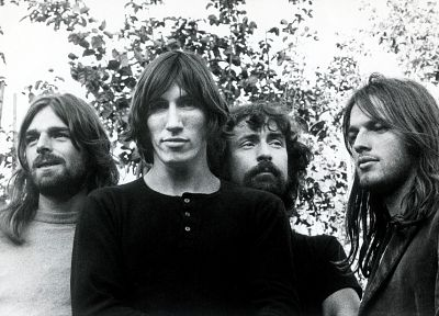 Pink Floyd, grayscale, monochrome - desktop wallpaper