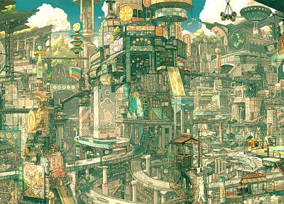 cityscapes, architecture, steampunk, buildings, imperial boy - desktop wallpaper