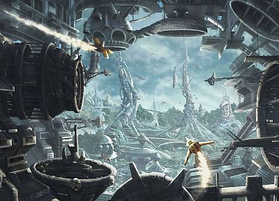 fantasy, futuristic, fantasy art, science fiction, artwork, 3D - related desktop wallpaper