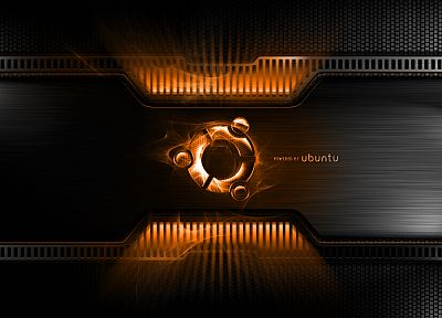orange, metal, Linux, Ubuntu - random desktop wallpaper