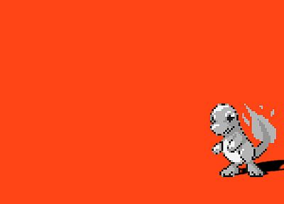 Pokemon, simple background, Charmander - desktop wallpaper