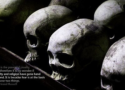 skulls, quotes, fearful, religion, F.E.A.R. - random desktop wallpaper