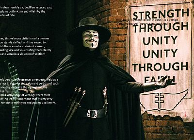 V for Vendetta - desktop wallpaper