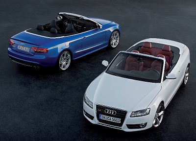 cars, Audi, white cars, Audi A5 Cabriolet, German cars - random desktop wallpaper