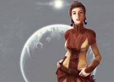 Jedi, Star Wars: The Old Republic, Knights of the Old Republic, Bastila Shan - desktop wallpaper