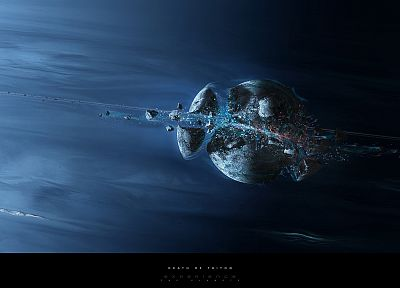 abstract, outer space, planets, fantasy art, artwork - random desktop wallpaper