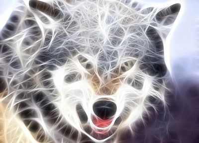 Fractalius, wolves - random desktop wallpaper