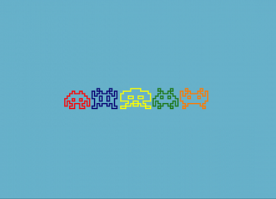 Space Invaders, invaders - desktop wallpaper
