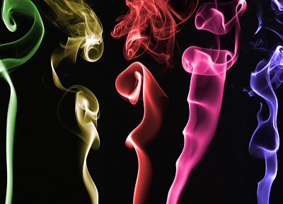 abstract, multicolor, smoke, rainbows - random desktop wallpaper