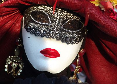 masks, masquerade, Venetian masks - random desktop wallpaper