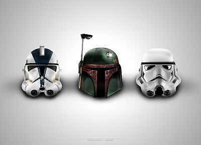 Star Wars, stormtroopers, Boba Fett, clone trooper, helmets - related desktop wallpaper