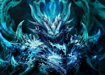 blue, frozen, Diablo, fantasy art, artwork - related desktop wallpaper
