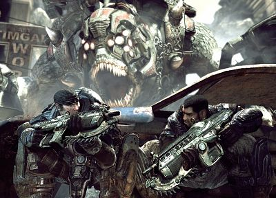 video games, Gears of War - random desktop wallpaper