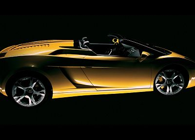 cars, vehicles, Lamborghini Gallardo, side view, yellow cars, italian cars - desktop wallpaper