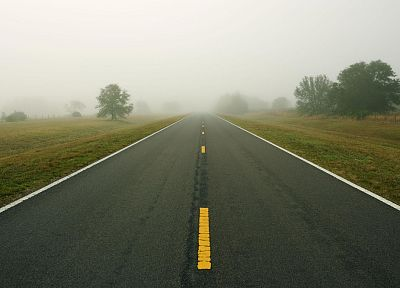 fog, mist, roads - popular desktop wallpaper