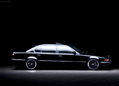 BMW, black, cars, vehicles, BMW 7 Series, black cars, side view, German cars - related desktop wallpaper