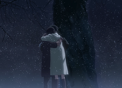 Makoto Shinkai, embrace, 5 Centimeters Per Second, hugging - random desktop wallpaper