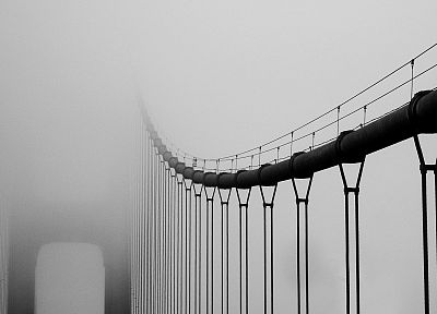 fog, bridges - random desktop wallpaper