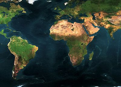 Earth, world map - desktop wallpaper