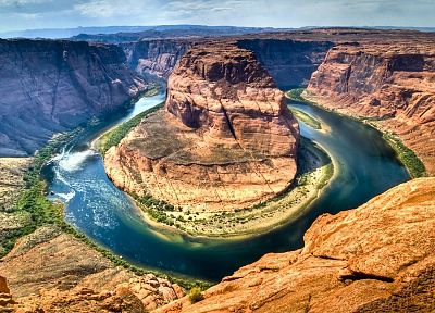 landscapes, nature, canyon, rivers, horseshoe - desktop wallpaper