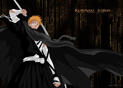Bleach, Kurosaki Ichigo, The Matrix - random desktop wallpaper