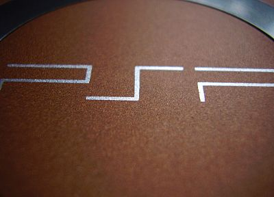 close-up, console, macro, logos, Playstation Portable - desktop wallpaper