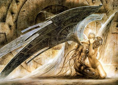 angels, Luis Royo, digital art - random desktop wallpaper