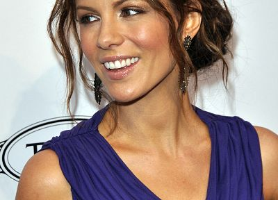 brunettes, women, Kate Beckinsale, brown eyes, earrings - related desktop wallpaper