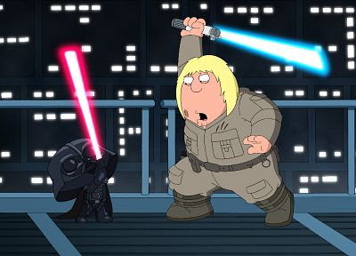 Star Wars, lightsabers, Family Guy, parody, Stewie Griffin - desktop wallpaper