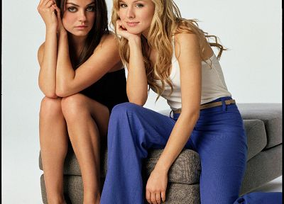 women, Mila Kunis, Kristen Bell, actress, celebrity - desktop wallpaper