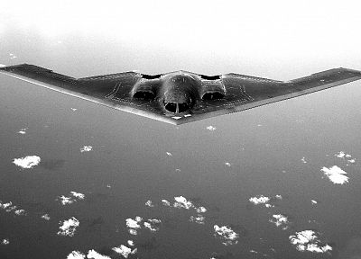 aircraft, military, monochrome, greyscale, B-2 Spirit - desktop wallpaper